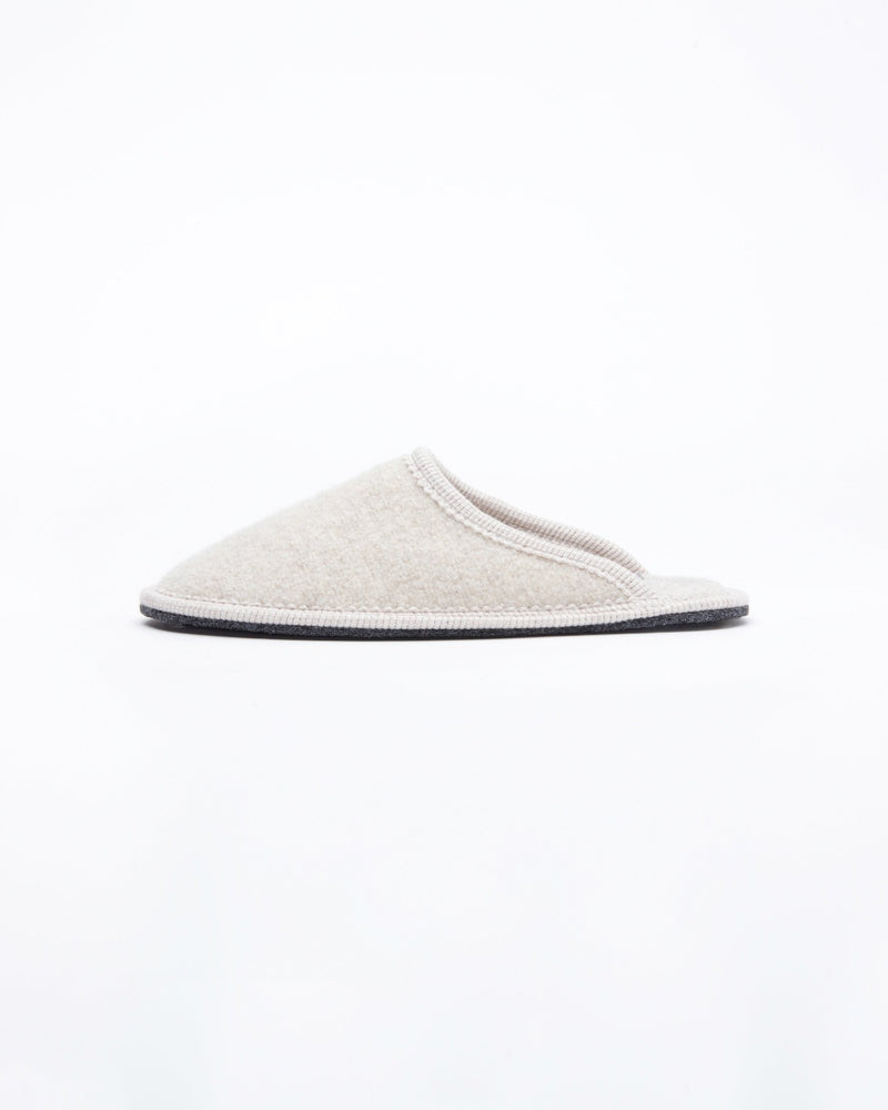 women's beige le clare stella boiled wool hotel house slipper