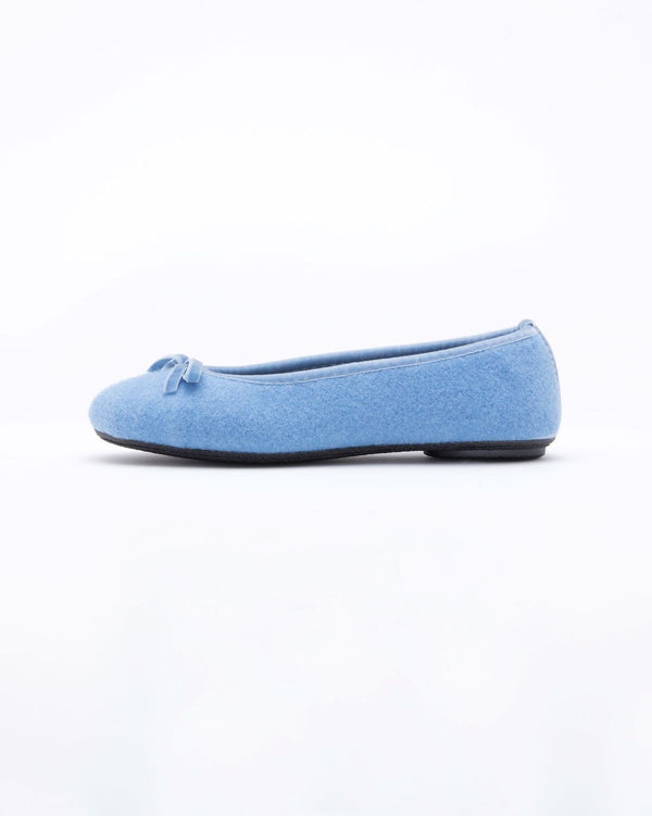 light blue  le clare wool ballet flat house slipper