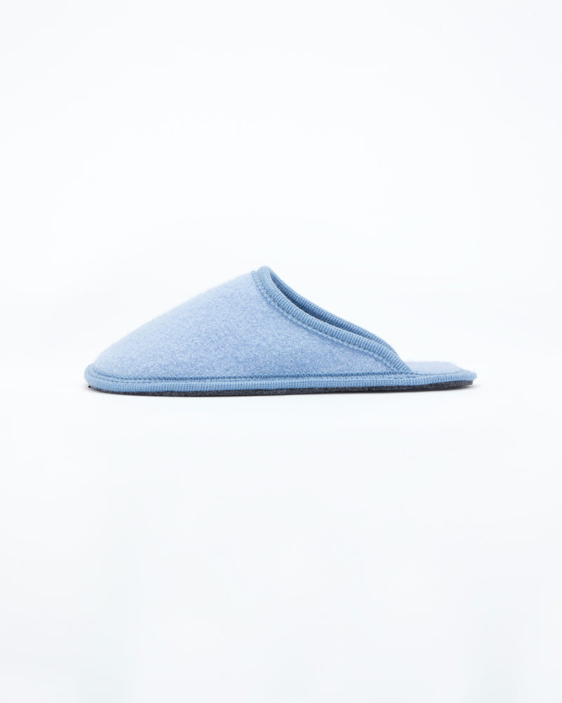 women's sky blue  le clare stella boiled wool hotel house slipper