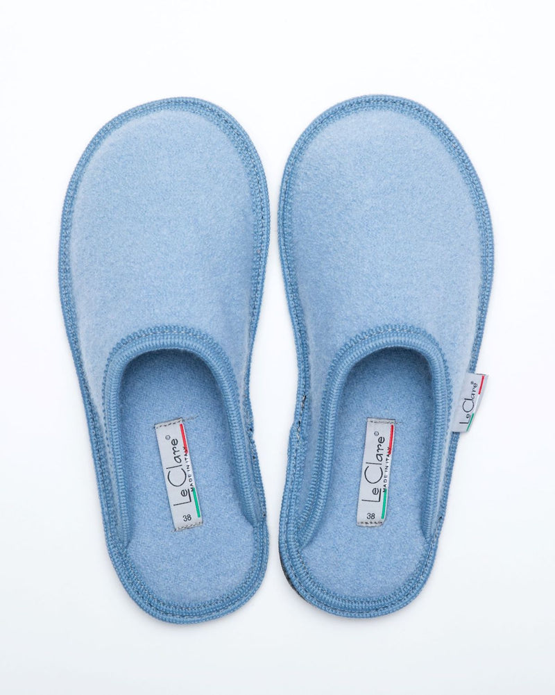 Women's Boiled Wool Stella Slipper Sky Blue