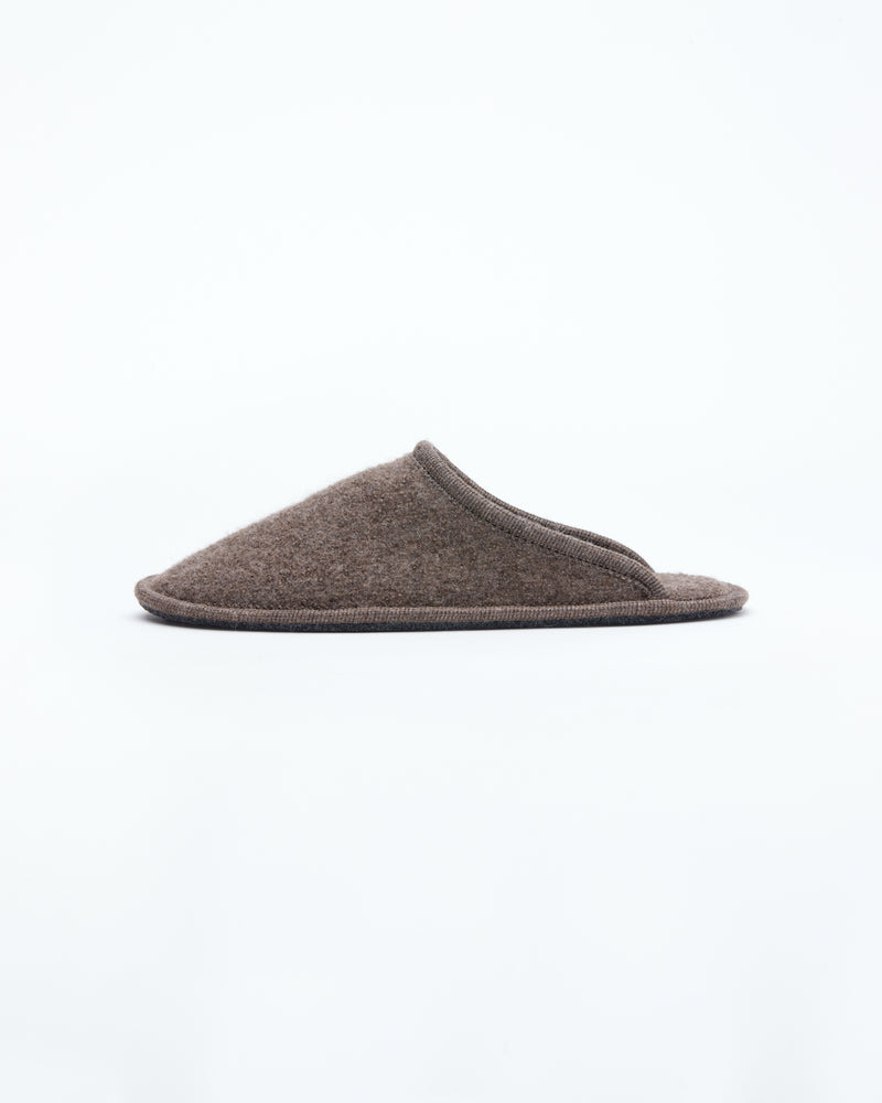 brown  le clare stella  boiled wool  house slipper