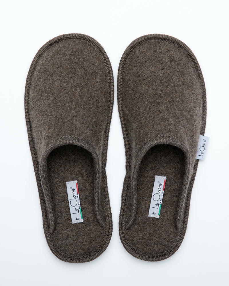 Men's Boiled Wool Stella Slipper Brown