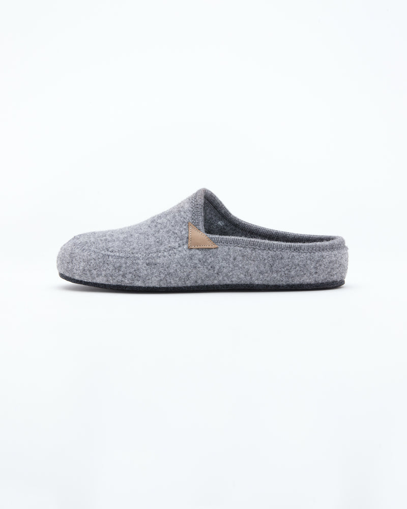 grey men's le clare casies wool  felt house slipper