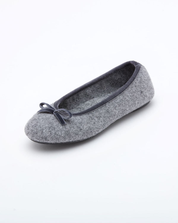 Cinderella Ballet Flat Slipper Heather Grey