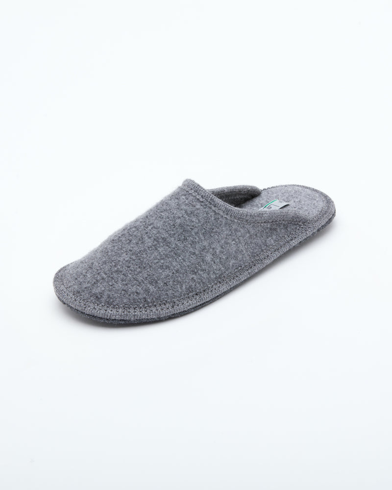 Men's boiled wool slippers gray