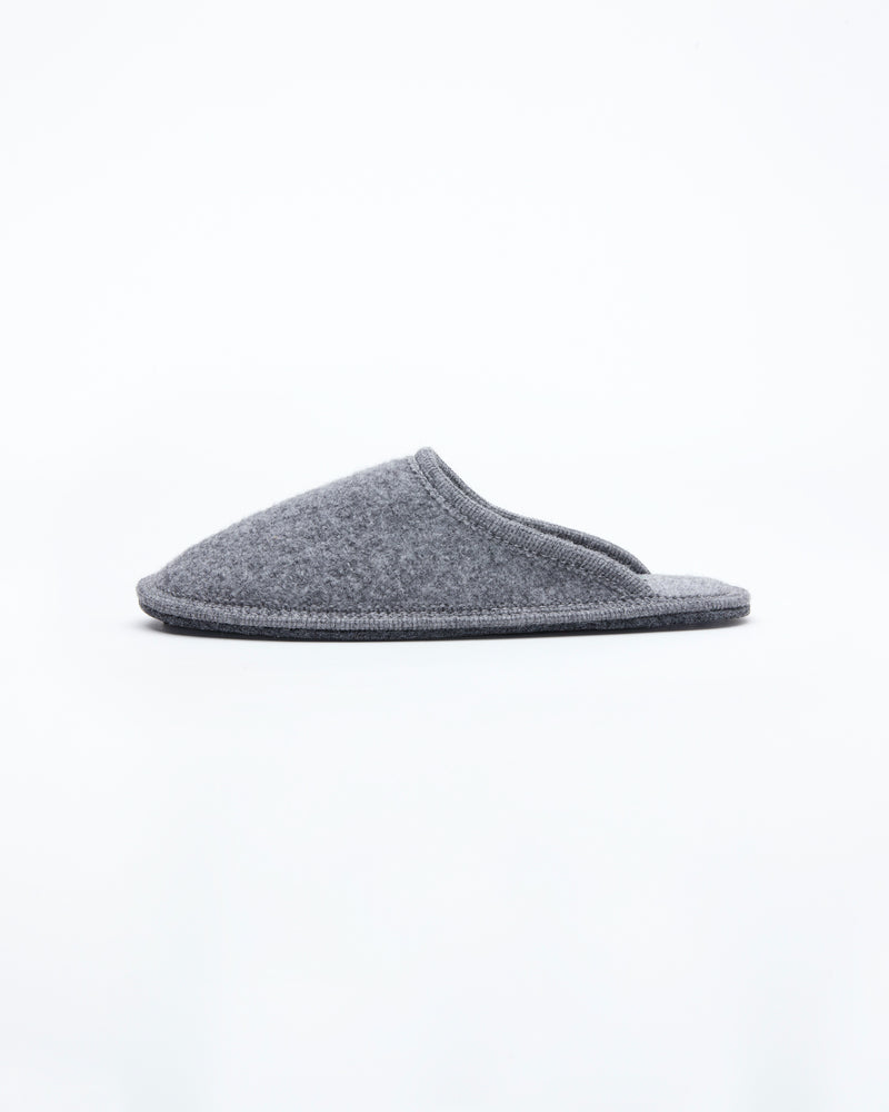 women's grey le clare stella boiled wool hotel house slipper