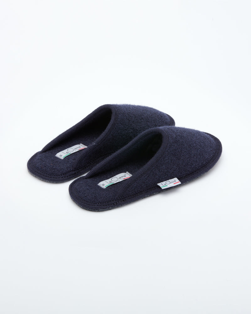 Men's Boiled Wool Stella Slipper Navy