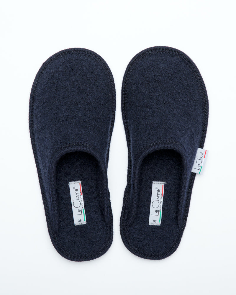 Women's Boiled Wool Stella Slipper Navy