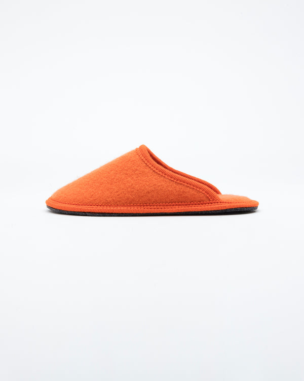 men's orange le clare stella  boiled wool  house slipper