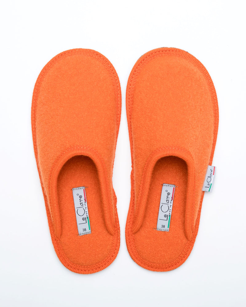 Women's Boiled Wool Stella Slipper Orange