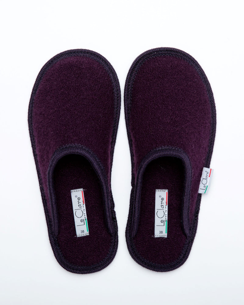 Women's Boiled Wool Stella Slipper Plum