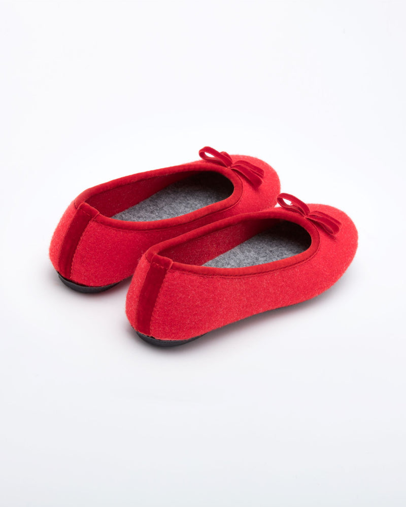Cinderella Ballet Flat Slipper Red