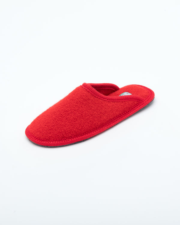 Women's Boiled Wool Stella Slipper Red