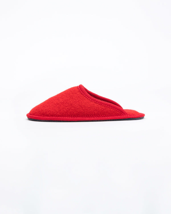 women's red le clare stella boiled wool hotel house slipper