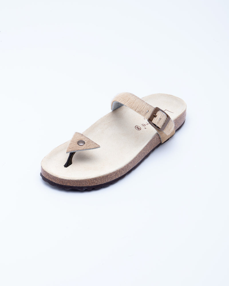 Women's Manu Triangle Sandal Beige Pony