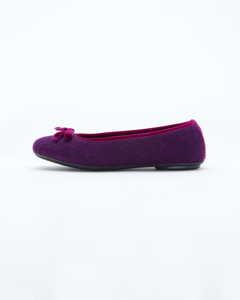 violet  le clare wool ballet flat house slipper