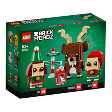 Load image into Gallery viewer, Reindeer, Elf & Elfie Brickheadz