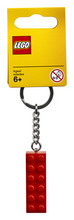 Load image into Gallery viewer, Keychain 2x6 LEGO® Brick Red