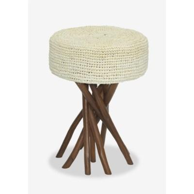 Surfside Stool with Cream Cushion
