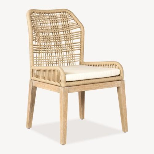 Vega Woven Side Chair - Cream