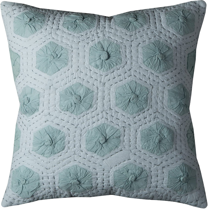 White & Blue Down Filled Pillow