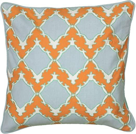 Orange & Blue Down Pillow