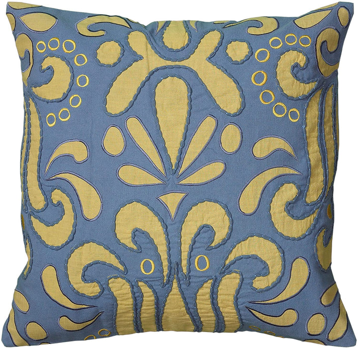 Blue & Yellow Down Filled Pillow