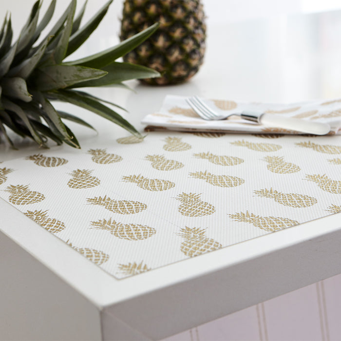 Pineapple Vinyl Placemat-Gold