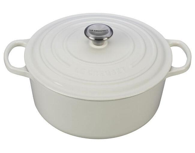 Large Round Dutch Oven-White