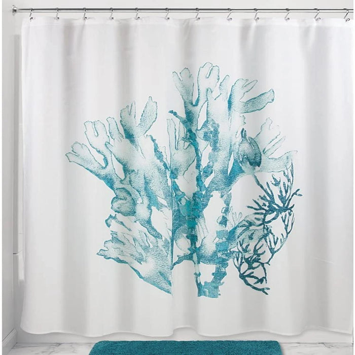Coral Shower Curtain - Deep Teal