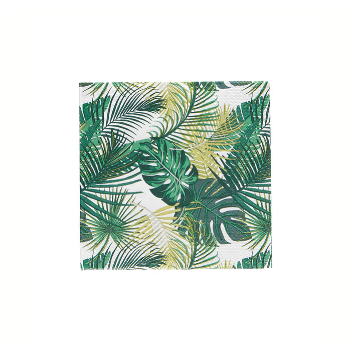 Palm Paper Cocktail Napkin-Green