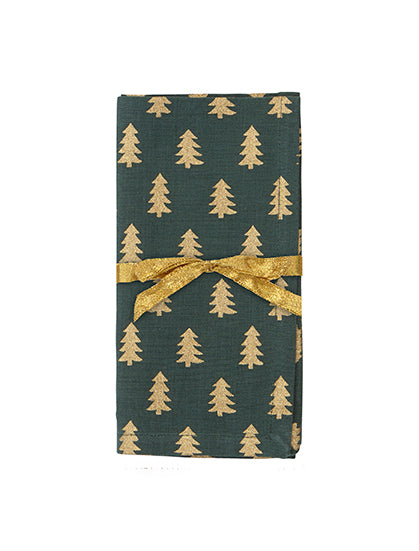 Golden Tree Napkin - Forest