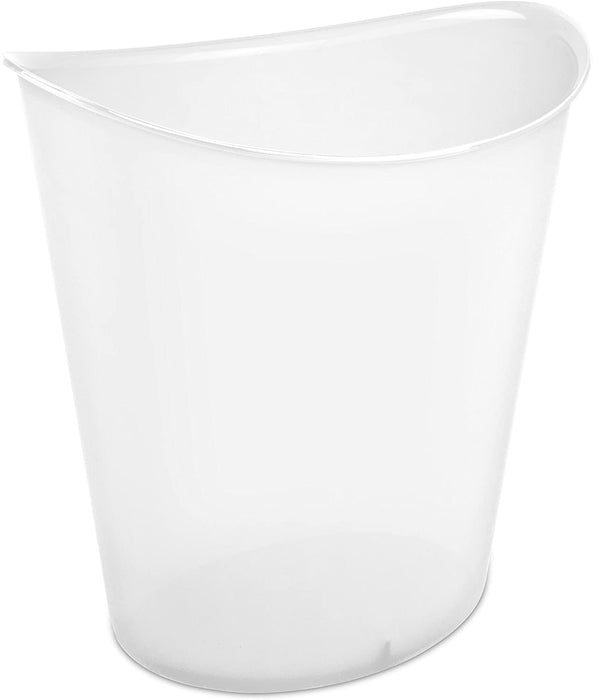 3 Gallon Oval Wastebasket - Clear