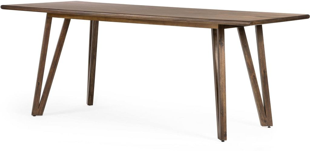 Leah Dining Table - Rubbed Brown