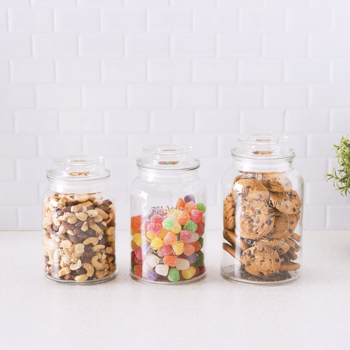 3pc. Glass Canister Set