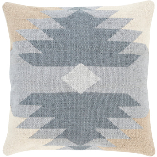 Cotton Kilim Beige/Light Gray Pillow