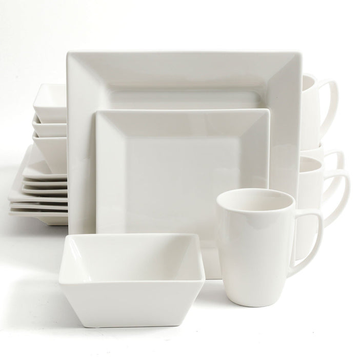 White Diamond 16 Piece Dinnerware Set