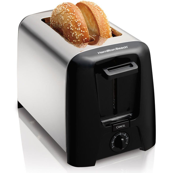 Hamilton Beach 2 Slice Cool Wall Toaster (Black & Chrome)
