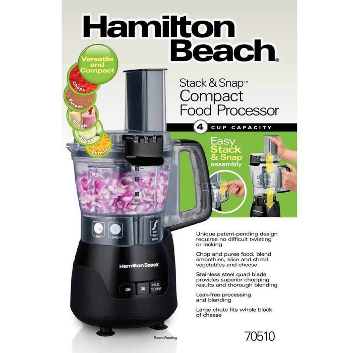 Hamilton Beach Snap & Stack 4 Cup Food Processor