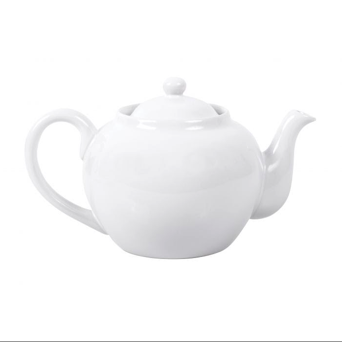 White Teapot - Stainless Steel Infuser