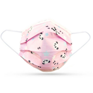 5 X KIDS FACE COVERINGS - BLUE / PINK / WHITE