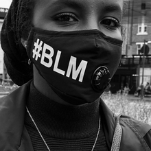 Load image into Gallery viewer, BLM NOIR | Personalised 'Black Lives Matter' Black Face Covering