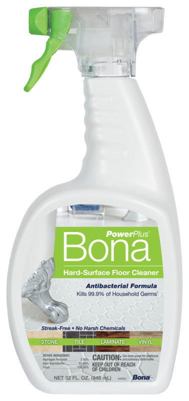 Bona Power Plus Hard Surface Antibacterial Cleaner Spray, 32oz