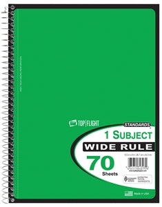 Wide Rule Wire Bound Notebook