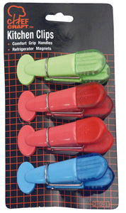 Chef Craft Kitchen Clips, Assorted Colors