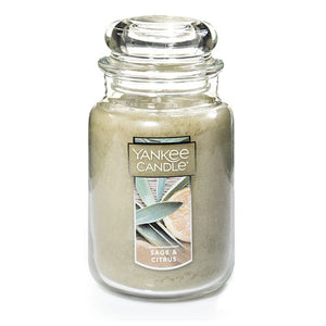 Yankee Candle, 22 oz Candle, Sage & Citrus