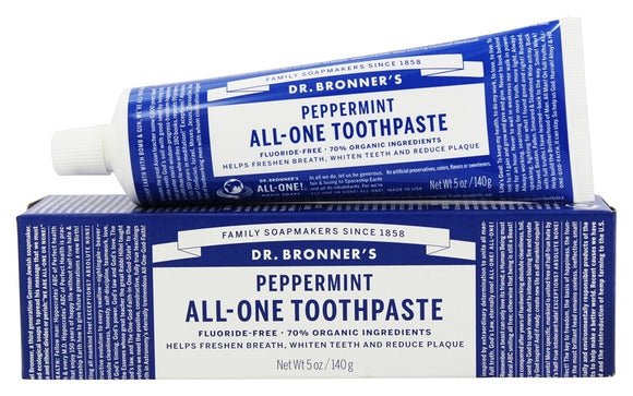 Dr. Bronner's All-One Toothpaste, Peppermint, 5 oz