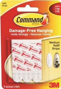 Command Refill Strips, 3 lb Capacity