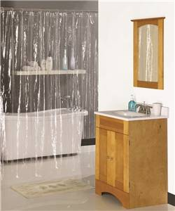 Simple Spaces Heavy Duty Shower Curtain, Vinyl Clear, 72 in L x 70 in W