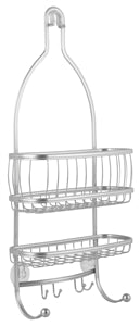 iDesign Shower Caddy, 2 Shelf, Silver